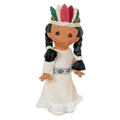 """Precious Moments 7/"""" Indian Doll Ten Little Indians Indian #6"""