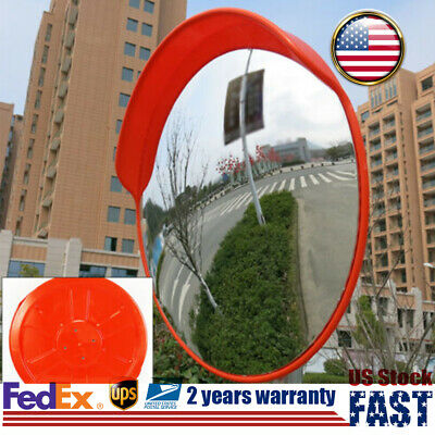 "18/24"" Wide Angle Security Outdoor Traffic Convex Mirror Driveway Safety Sign"