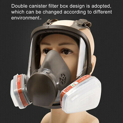 15 in 1 6800 Full Face Gas Facepiece Respirator Painting Spraying Safty FAST