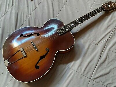 """KAY ® IMPERIAL® 17"""" ARCHTOP ACOUSTIC GUITAR . VINTAGE ca 1960's"""
