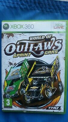 WORLD OF OUTLAWS  Sprint Cars     ( VERY RARE ) <     XBOX 360