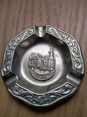 Vintage Miniature Silver Plated Ashtray Depicting Kasteel (Castle) Doorwerth
