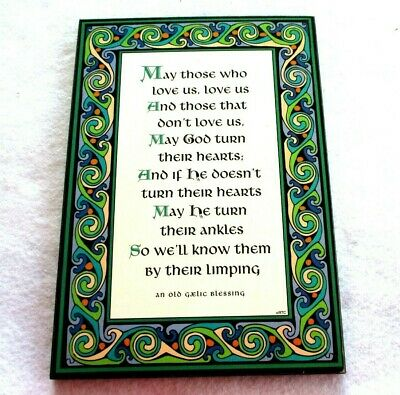 Gaelic Blessing wall plaque humor