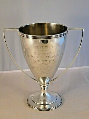 Antique 1909 Sterling Silver Loving Cup H R Scott Reidsville Nc Citizens Bank