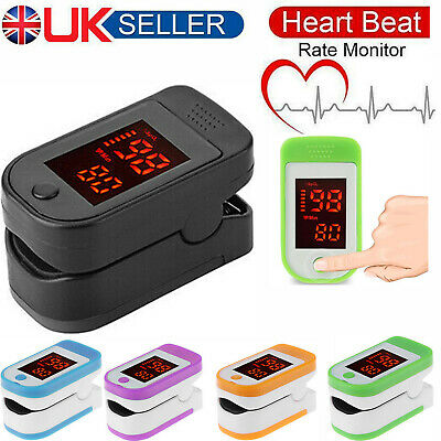 Fingertip Pulse Oximeter SPO2 Blood Oxygen Saturation Meter Monitor LCD Display