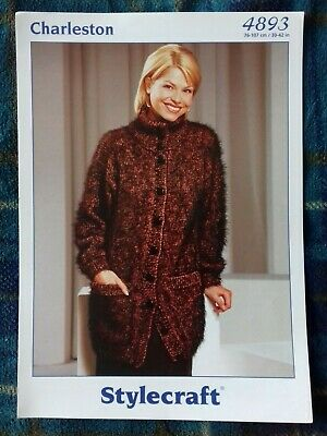 """Stylecraft Knitting Pattern 8509 Ladies Long Belted Cable Cardigan Jacket 32-42/"""""""
