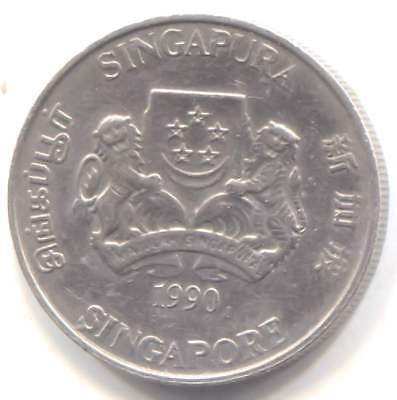 1990 Singapore Twenty Cents Coin - Singapura - 20 Cents