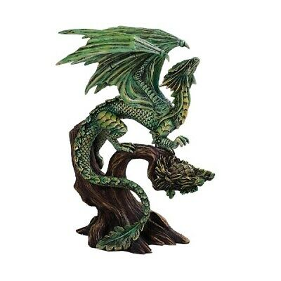 Anne Stokes Green Tree Dragon Figurine New