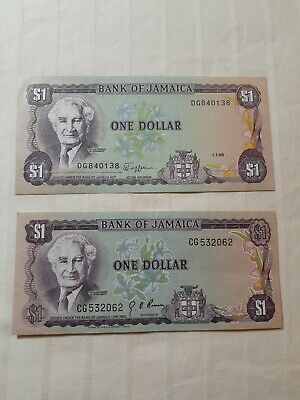 1960 Jamaica Banknote :1 Uncirculated & 1 Circulated