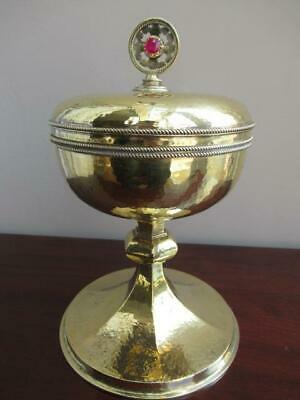 Sterling Silver Gilt Ciborium, Lidded Chalice