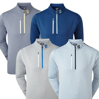 FootJoy Golf Sleeve Stripe Chill-Out Mens Pullover - Athletic Fit
