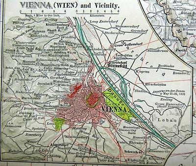 The Century Company Atlas Map Plate #90 Austria Hungary Empire Western 1897