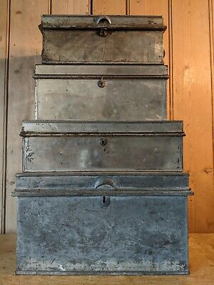 Antique~Vintage Deed~Document~Solicitors~Storage Boxes~Stripped~Job Lot of 4~
