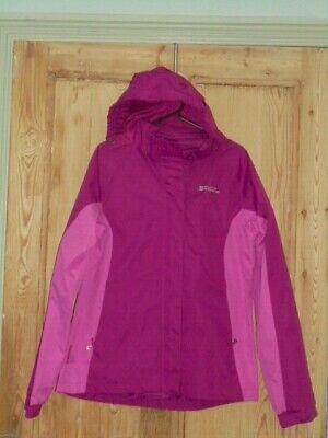 Mountain Warehouse Kids Pink Shelly Zip Waterproof Rain Jacket - Age 13 years