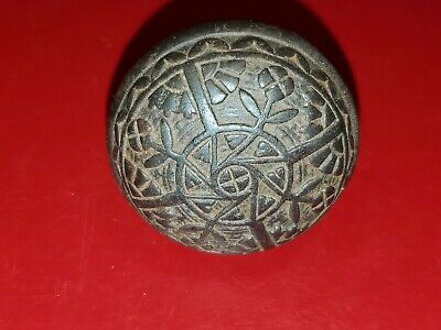 Vintage Ornate Metal Door Knob possibly victorian era
