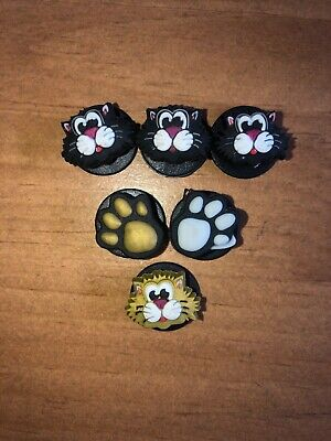 Jibbitz For Crocs Cats And Paws 6 Total New