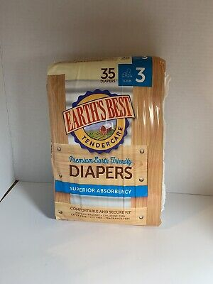 Earth's Best Diapers, Size 3, 35 Pack **BRAND NEW**