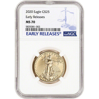 2020 American Gold Eagle 1/2 oz $25 - NGC MS70 Early Releases