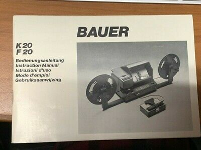 Bauer Super 8 Movie Viewer F20  USED GREAT CONDITION!                  0522
