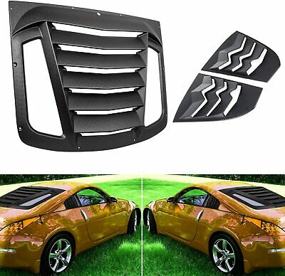 Rear and Side Window Louvers Cover Sun Shade Cover for 2003-2008 Nissan 350Z