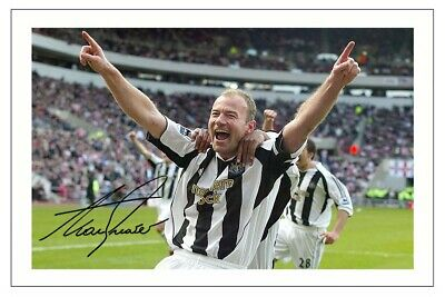 Alan Shearer Newcastle United Signed Photo Print Autograph Soccer