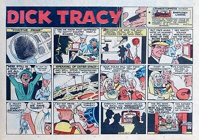 Dick Tracy by Gould - Moon Maid - large half-page Sunday comic - Oct. 31, 1965