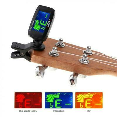Chromatic LCD Clip On Tuner Electric Acoustic Guitar Violin Bass Banjo Ukulele
