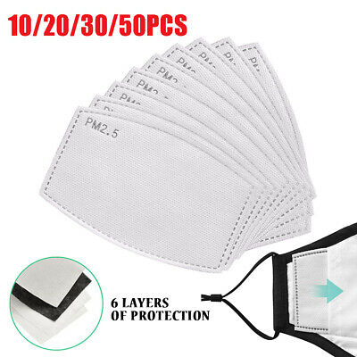 Adult Kids Face Mask PM2.5 Activated Filter Replace Breath Insert Mask Filter