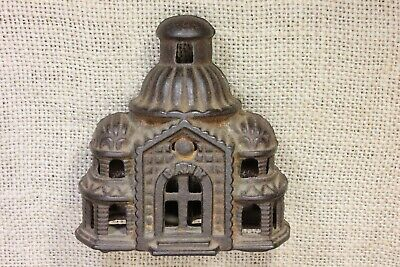 old STILL BANK smooth Domed Mosque RIVETED Grey Iron Casting Co antique Capitol