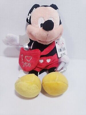 "BNWT Disney Parks Mickey Mouse Valentine/'s Day /""Be Mine/"" Small Plush 11/'/'"