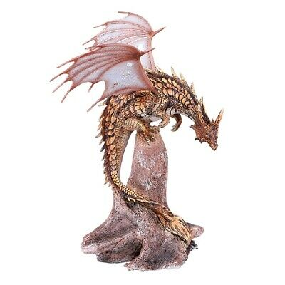 Pterosaur Dragon with Metal Wings Statue Figurine New