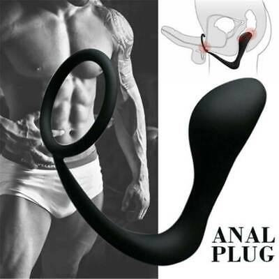 Male Prostate Vibrating Massager Anal Butt Plug G-P-spot Mens Toy Use Lubricant