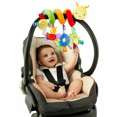 Baby Crib Cot Pram Hanging Rattle Spiral Stroller & Car Seat Pushchair Toy
