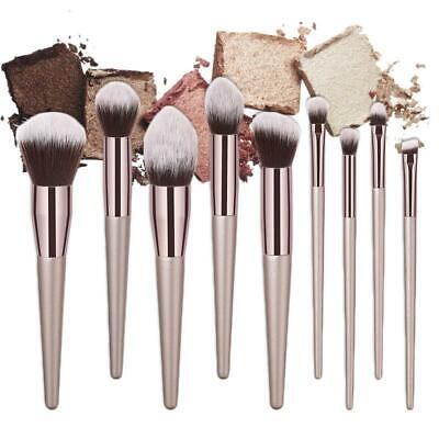 10Pcs Make Up Brushes Set Professional Blusher Powder Foundation Eyeshadow Tools
