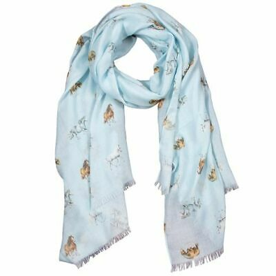 Wrendale Designs - 'Feather and Forelocks' Scarf