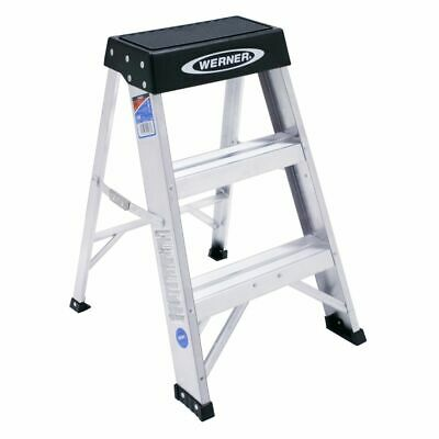 Werner 150B 300-Pound Duty Rating Aluminum Step Stool, 2-Foot