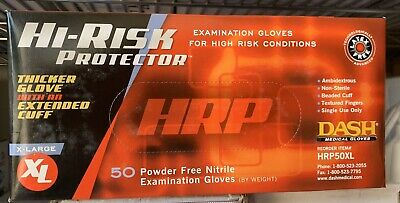 Dash Hi Risk Nitrile Gloves Xlarge