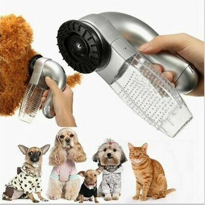 Electric Pet Hair Remover Dog Cat Fur Suction Vacuum Grooming Cleaner Device