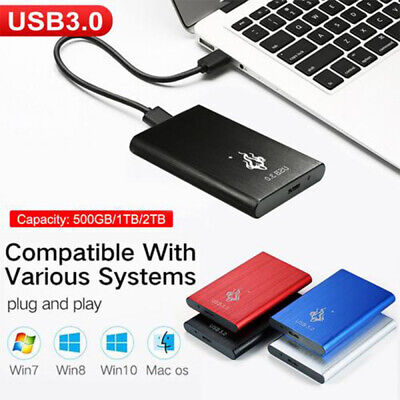USB 3.0 2TB 1TB External Hard Drive Disks HDD 2.5'' Fit For PC Laptop Portable