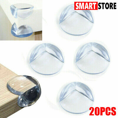 20xset PVC Silicone Table Protector Corner Cover Guards Baby Kids Safety+Sticker