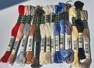 DMC stranded cotton (cross stitch/embroidery) - 6 strands - 8m skeins