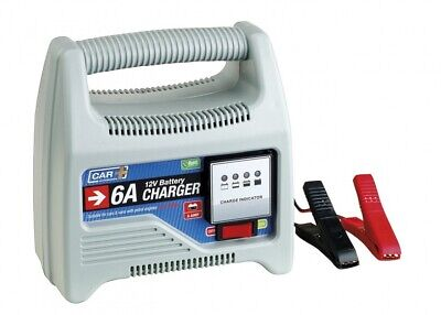 Car Plus - 12 Volt Batterieladegerät 6 A grau
