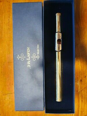 Lafin by J.R.Lafin Flute Headjoint Model Julie 10k Gold tube, 14k Lipplate