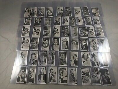1937 John Sinclair Film Stars Real Photos No 55-108 Series 2 Complete Set Nm