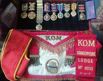 Collection Of 9 Silver Hallmarked Order of Buffaloes Medals Etc.