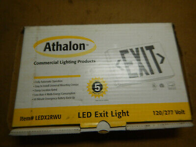 New Athalon Led Light Up Exit Sign