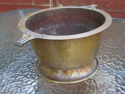 Antique Vintage Large Arts & Crafts Bowl / Planter - Mortar & Pestle In Shape