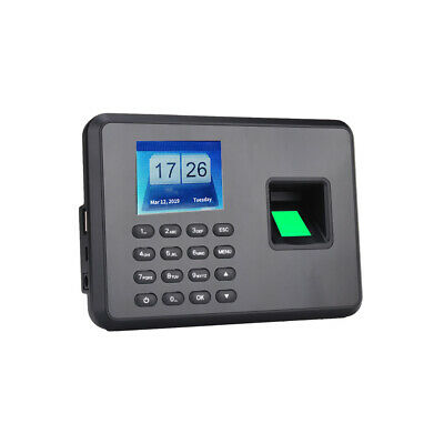 Fingerprint Password Attendance Machine Employee Checking-in Recorder O4S3