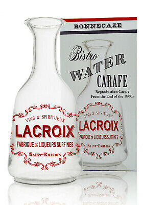 French Lacroix Absinthe Water Carafe, Glass