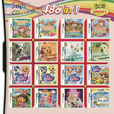 486 in 1 Video Games Cartridge For NDS NDSL NDSi 3DS 2DS Girl Games